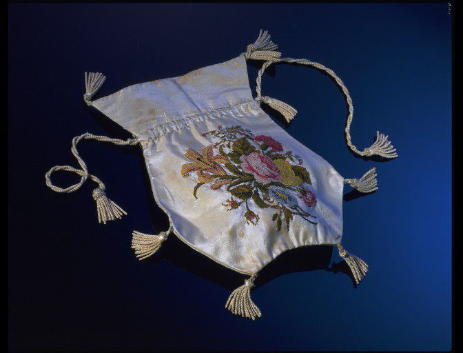 From V&A collections. Made 1800-1824. http://collections.vam.ac.uk/item/O75387/purse-unknown/